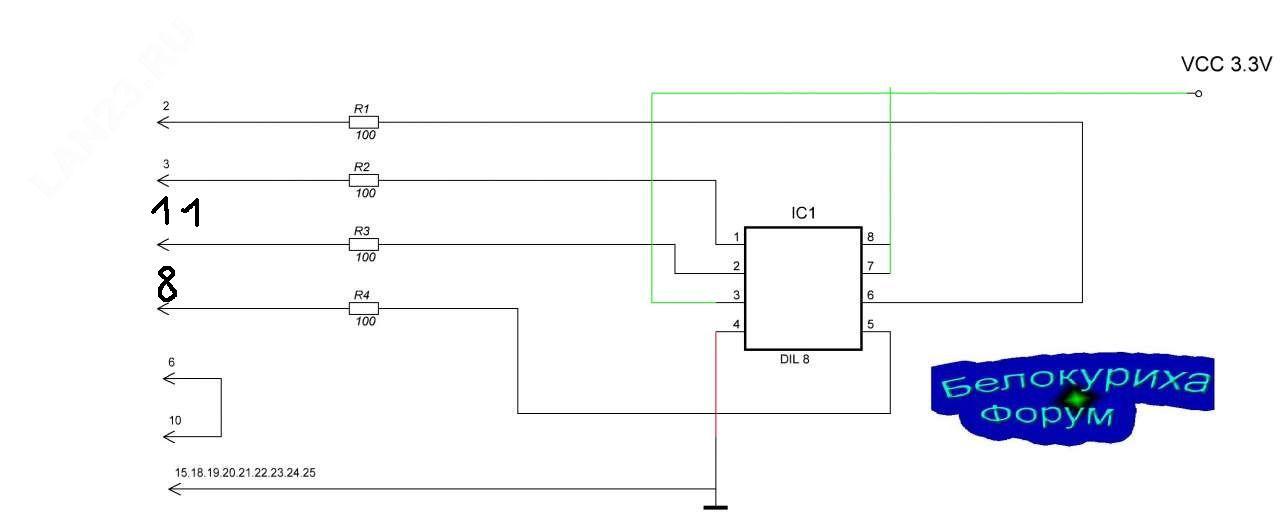 Нажмите на изображение для увеличения Название: Схема программатора.jpg Просмотров: 3994 Размер:36.1 Кб ID:12614