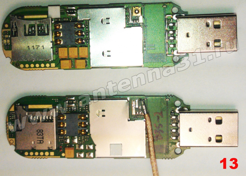 rework 3G modems for external antenna antenna31.ru