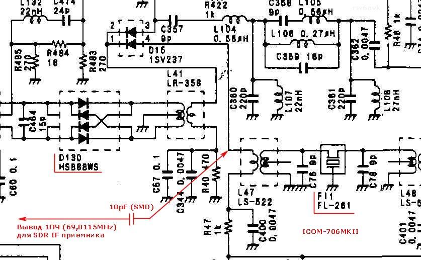 IC-706MKII подключение SDR IF